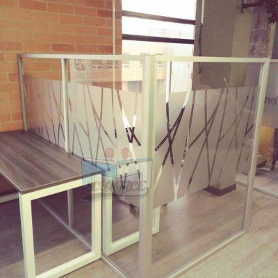 separadores en vidrio templado