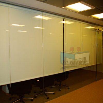 divisiones en vidrio completo